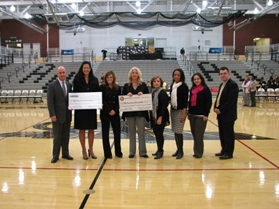 Adelphi Athletics Presents Check to New York Statewide Breast Cancer Hotline